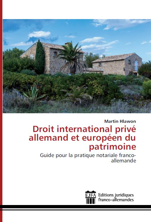 Droit international privé allemand et européen du patrimoine